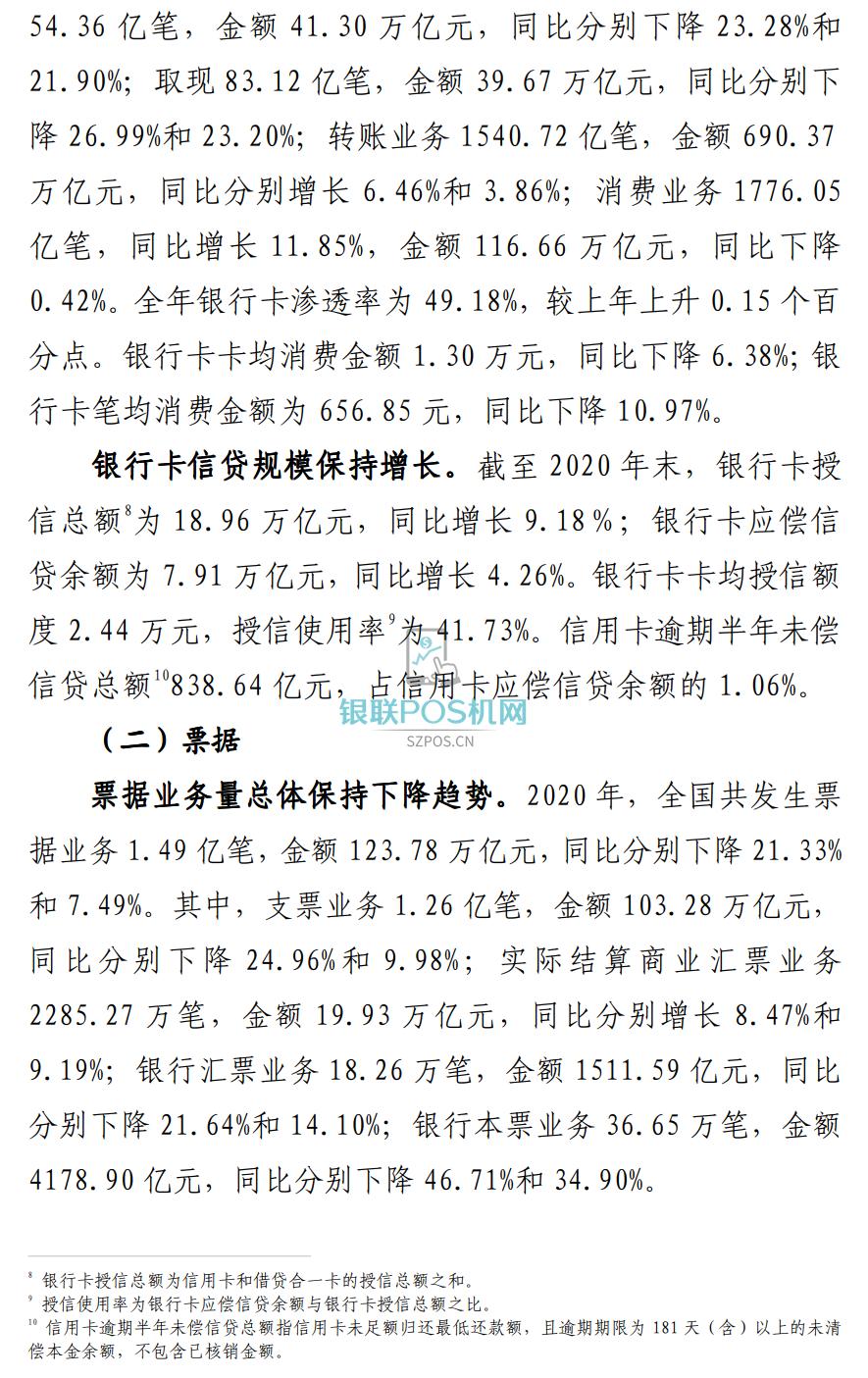央行公布最新支付数据:POS机达3833万台
